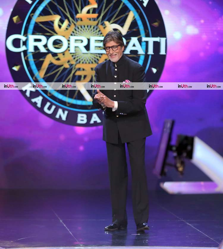 Amitabh Bachchan on the sets of Kaun Banega Crorepati