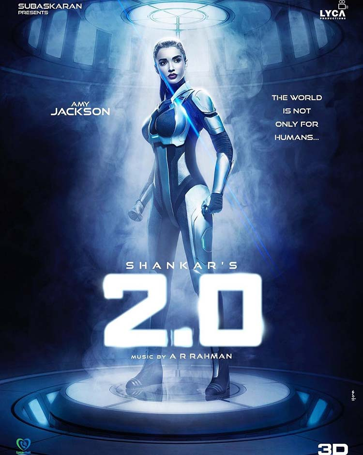 Amy Jackson's first look from Robot 2.0 is wow