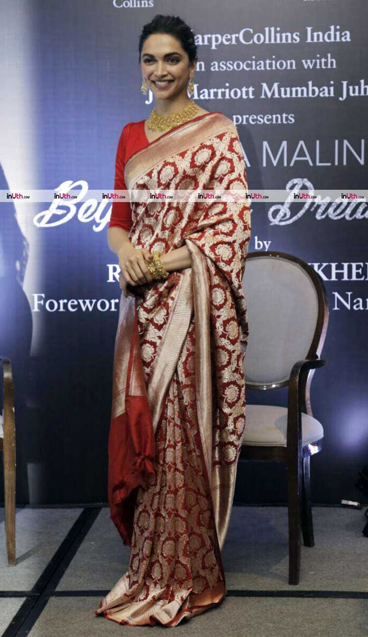 Deepika Padukone at the launch of Hema Malini's biography