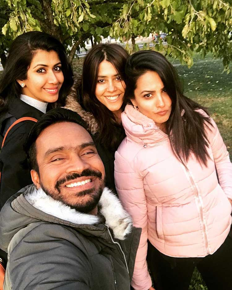 Ekta Kapoor and team chilling in Vienna