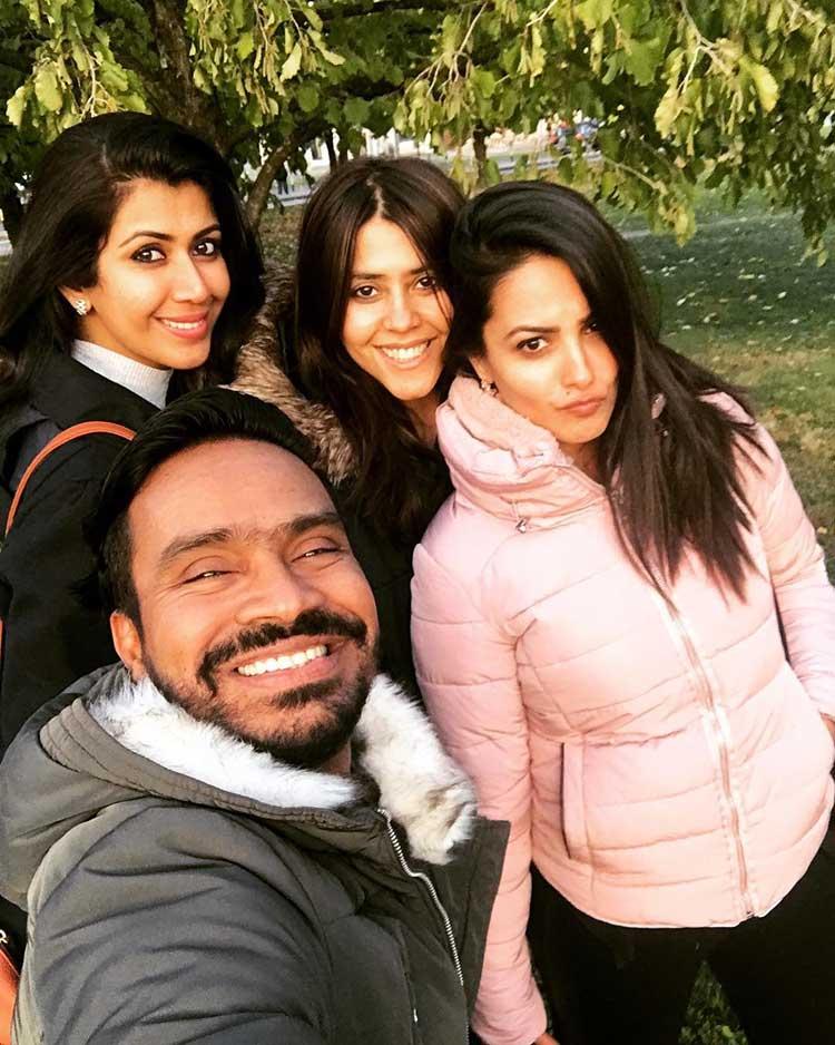 Ekta Kapoor and team chilling in Vienna