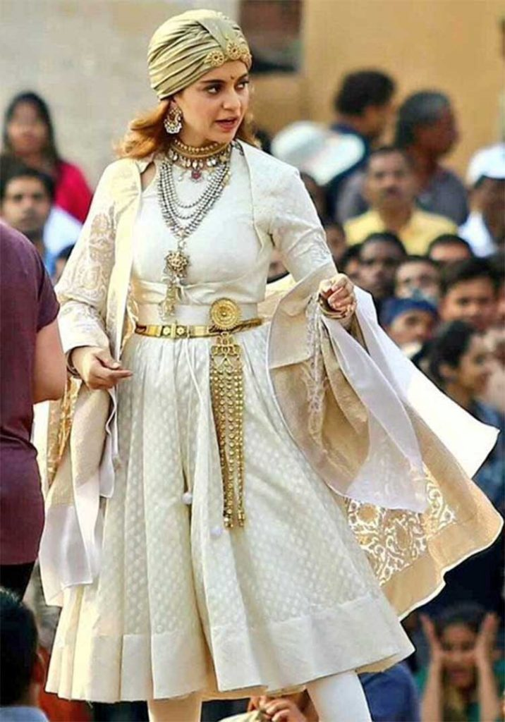 Kangana Ranaut on the sets of Manikarnika - The Queen of Jhansi