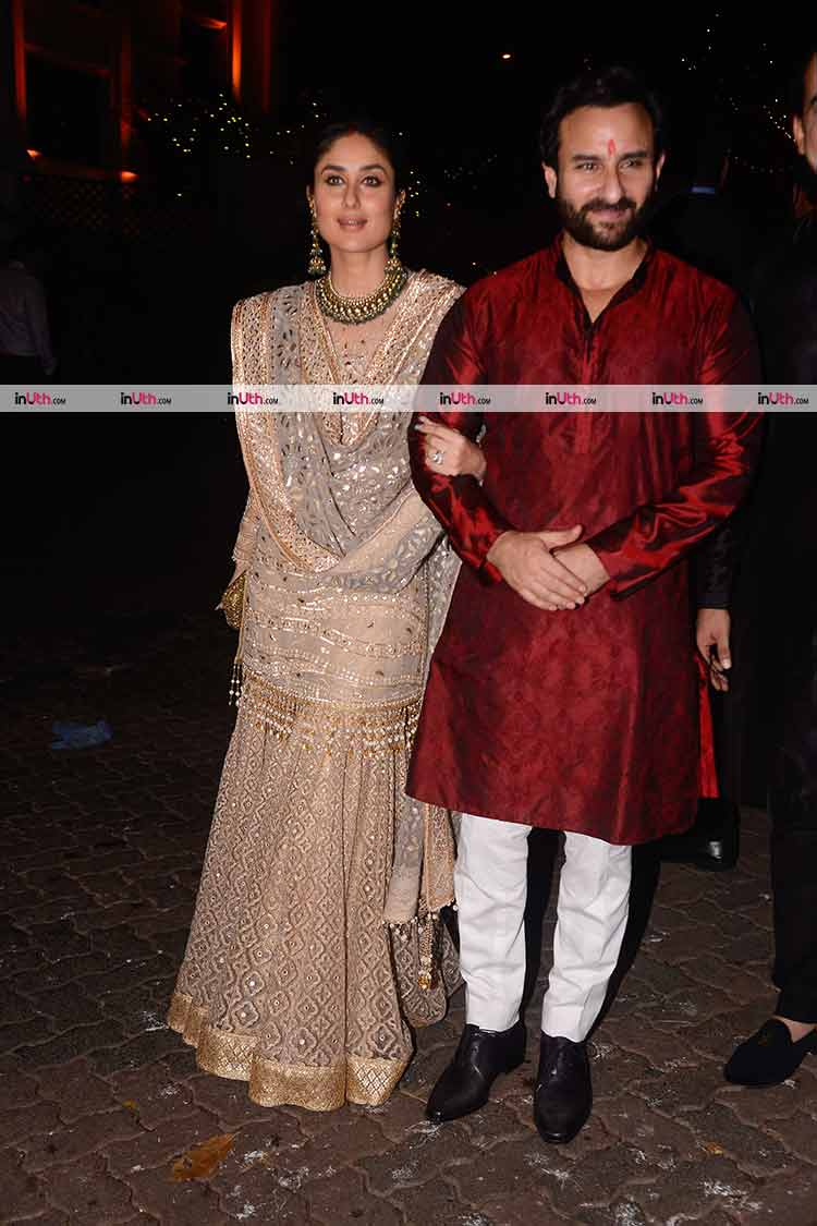 Kareena Kapoor and Saif Ali Khan at Aamir Khan's Diwali party