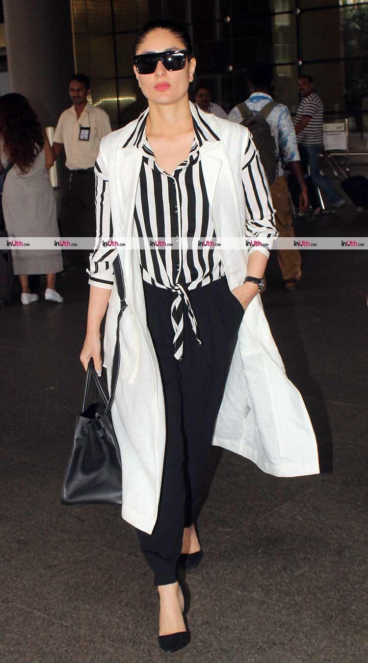 Kareena Kapoor spotted at the Mumbai airport on Sunday