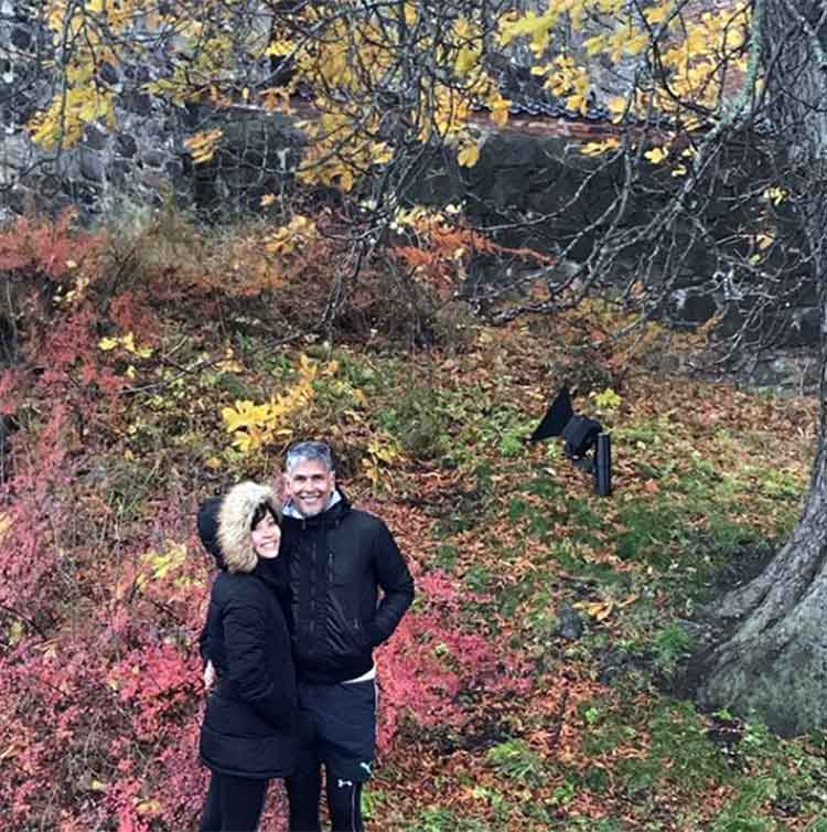 Milind Soman and Ankita Konwar amidst the beauty of Norway
