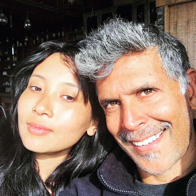 Milind Soman and Ankita Konwar look beautiful together