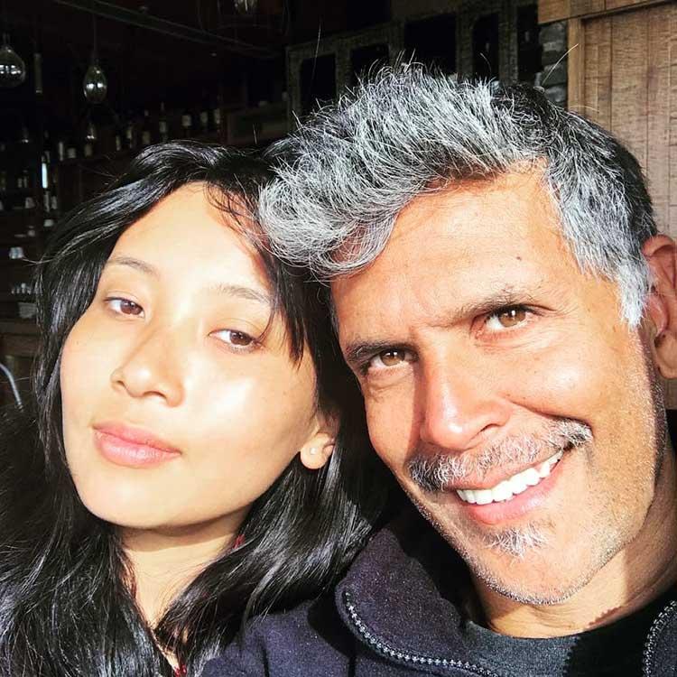 Milind Soman and Ankita Konwar look beautiful together