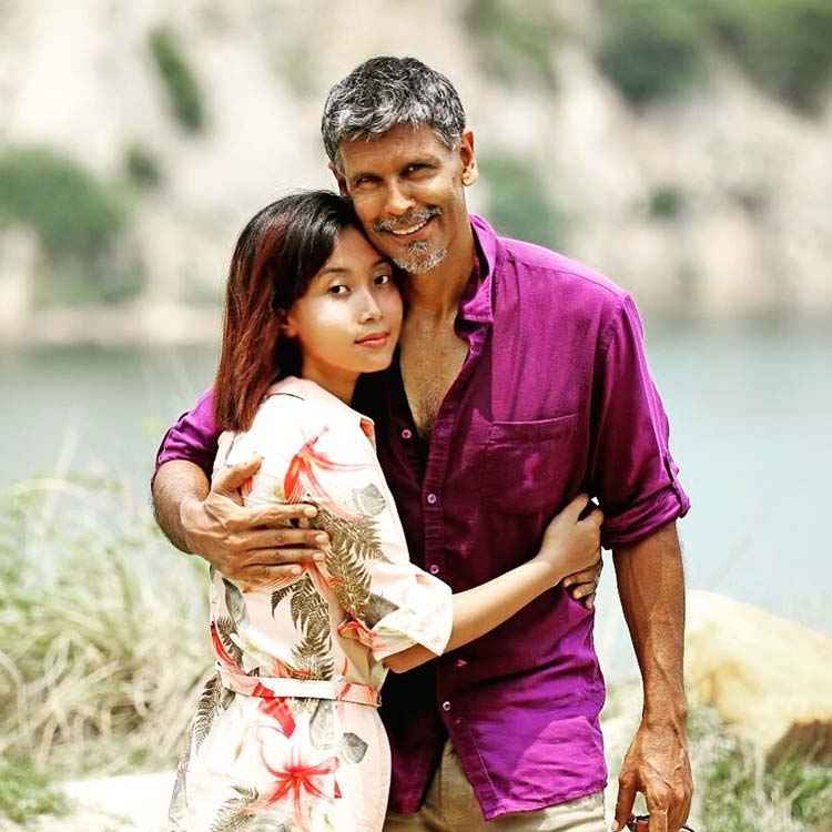 Milind Soman and Ankita Konwar look like blissful love in this frame
