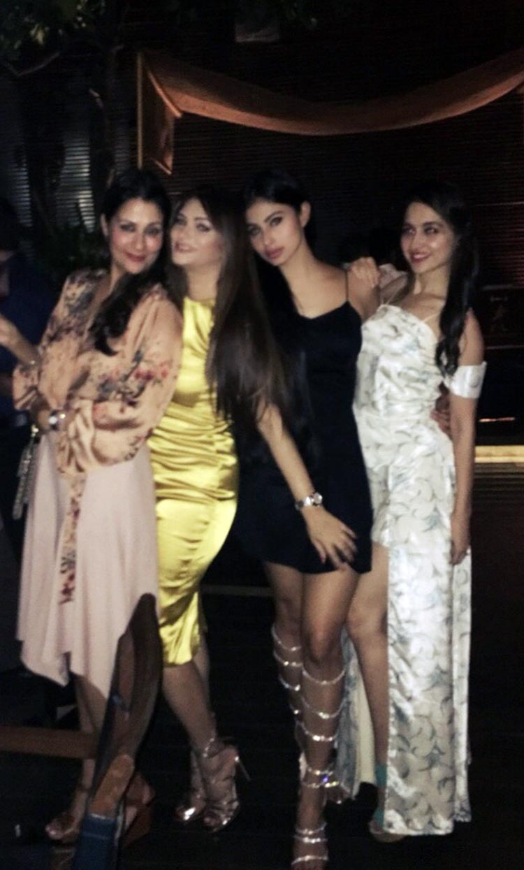 Mouni Roy attends a party with other telly town beauties