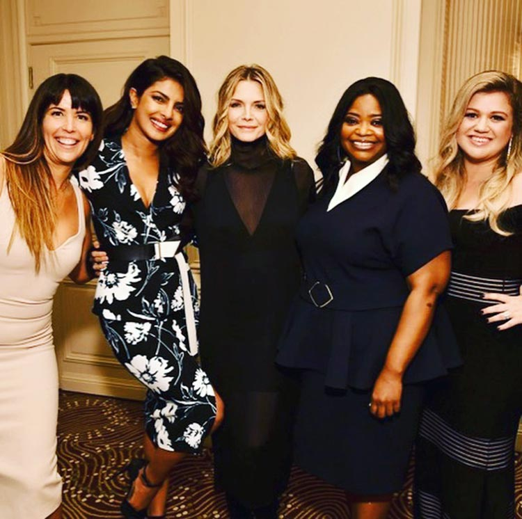 Priyanka Chopra with amazing ladies at the Variety Power Of Women luncheon