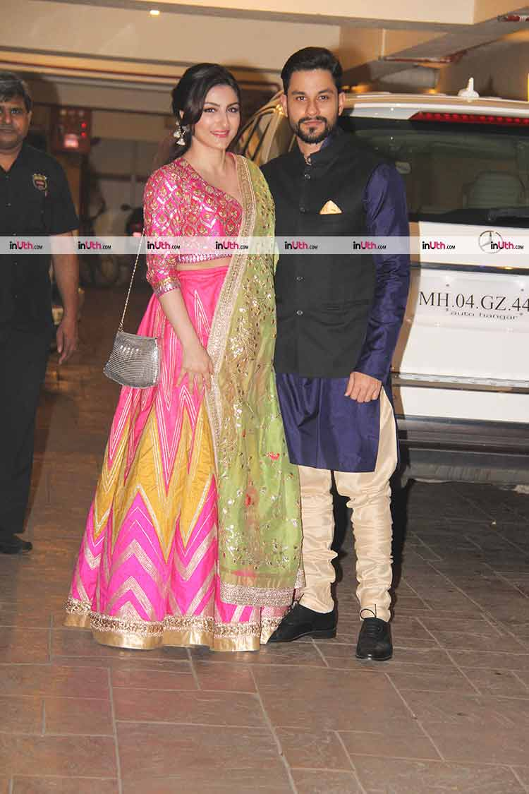 Soha Ali Khan and Kunal Khemu at their Diwali party
