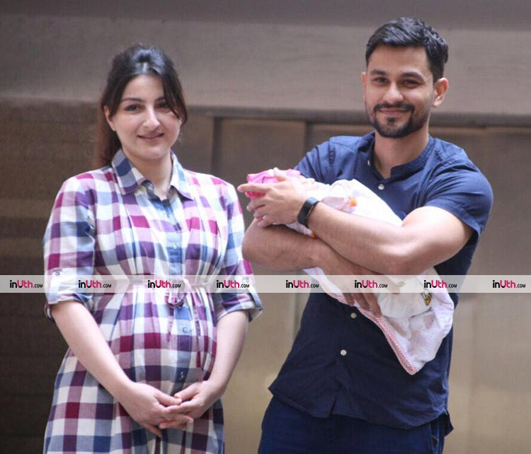 Soha Ali Khan and Kunal Khemu return home with their daughter