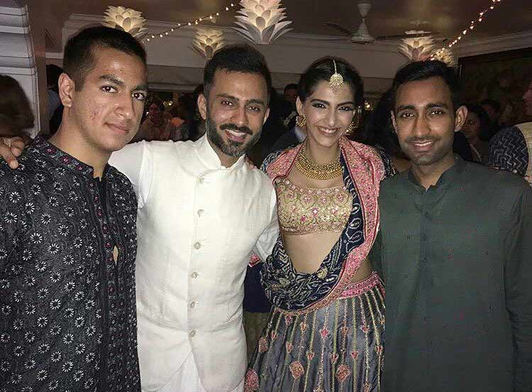 Sonam Kapoor celebrating Diwali with Anand Ahuja