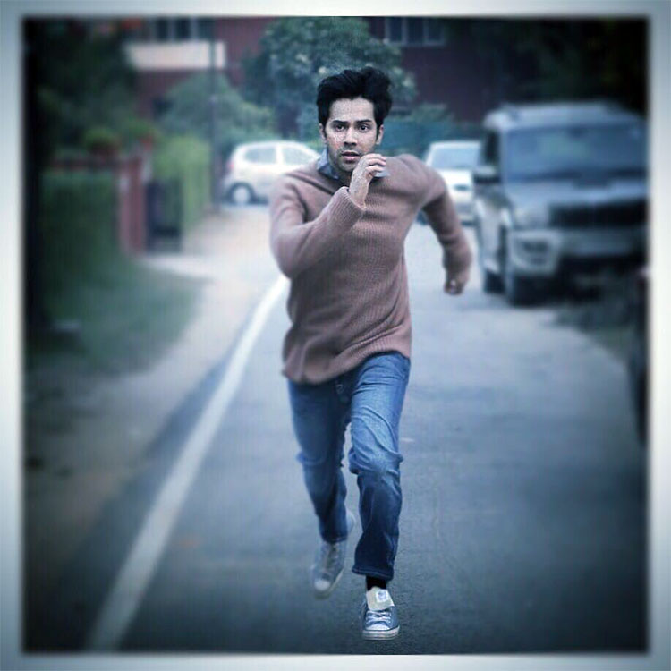 Varun Dhawan is running away from something in the first poster of October