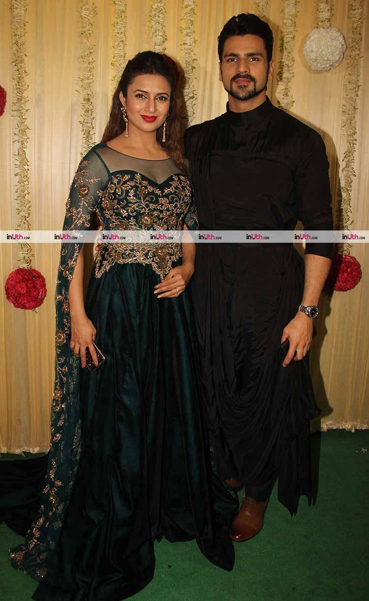 Divyanka Tripathi with Vivek Dahiya at Ekta Kapoor's Diwali party