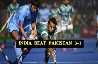 India beat Pakistan 3-1