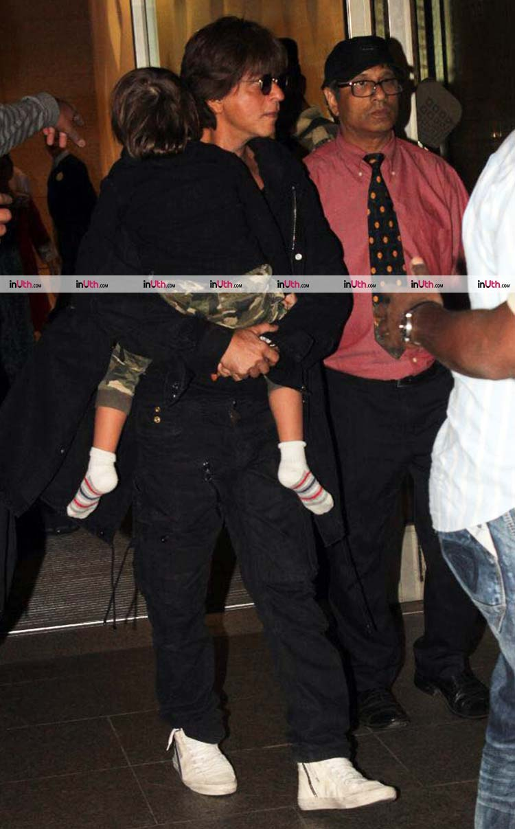 AbRam in the arms of Shah Rukh Khan