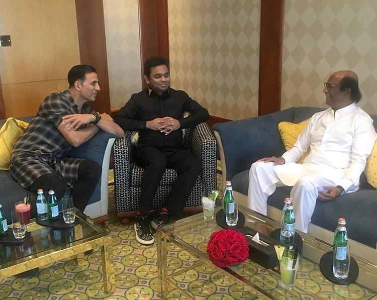 Akshay Kumar, A.R. Rahman, Rajinikanth in Dubai for 2.0 music launch