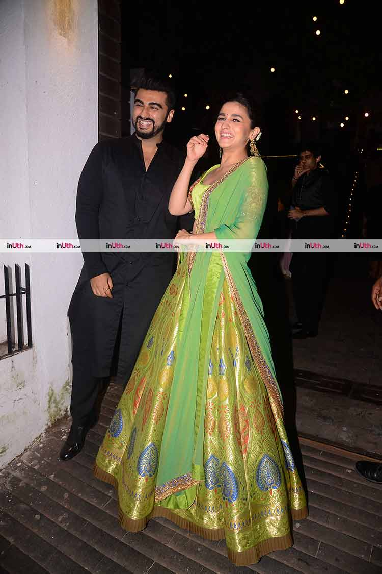 Alia Bhatt and Arjun Kapoor at Aamir Khan's Diwali party