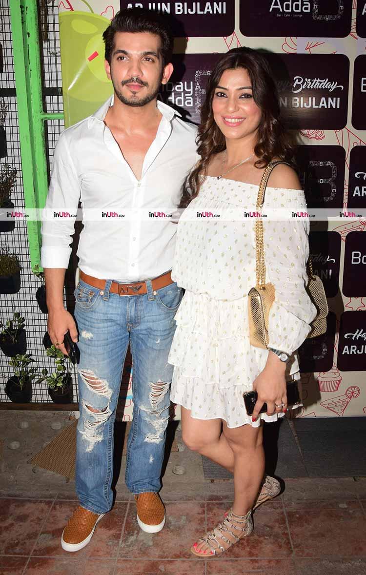Arjun Bijlani birthday bash pics | Arjun Bijlani with his wife Neha