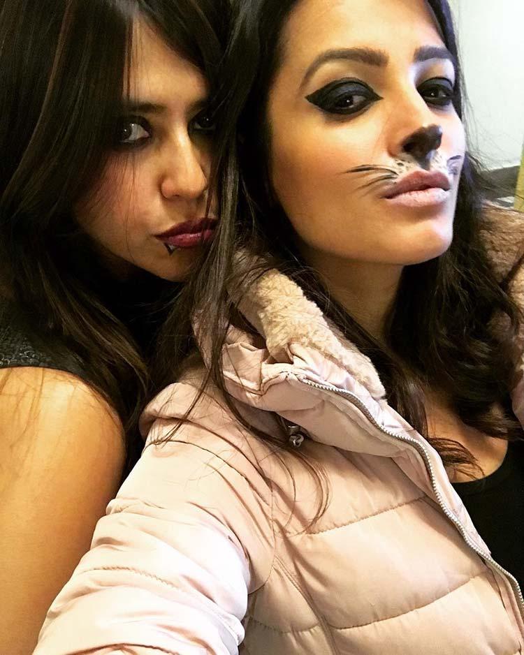 Ekta Kapoor and Anita Hassanandani in Halloween mood at Budapest