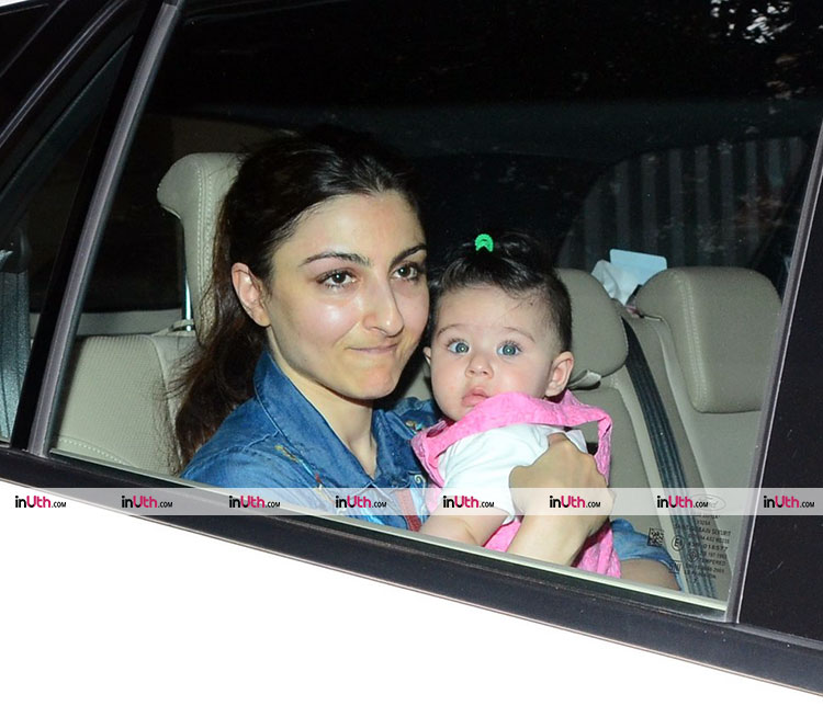 Inaaya and Soha Ali Khan snapped on March 6, 2016