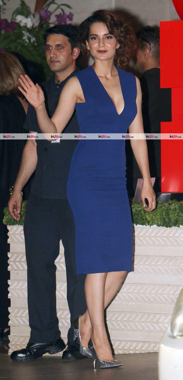 Kangana Ranaut spotted at Ambani's party post MAMI film festival