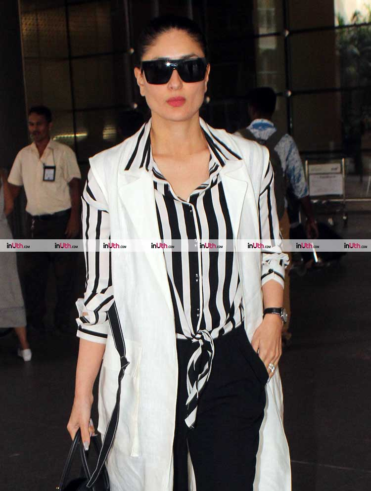 Kareena Kapoor spotted on airport post the schedule wrap for Veere Di Wedding