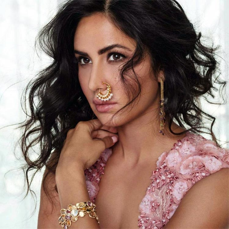 Katrina Kaif tries a nose ring for her latest photoshoot