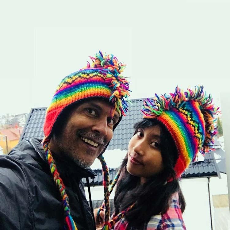 Milind Soman and girlfriend Ankita Konwar look uber cute in this selfie