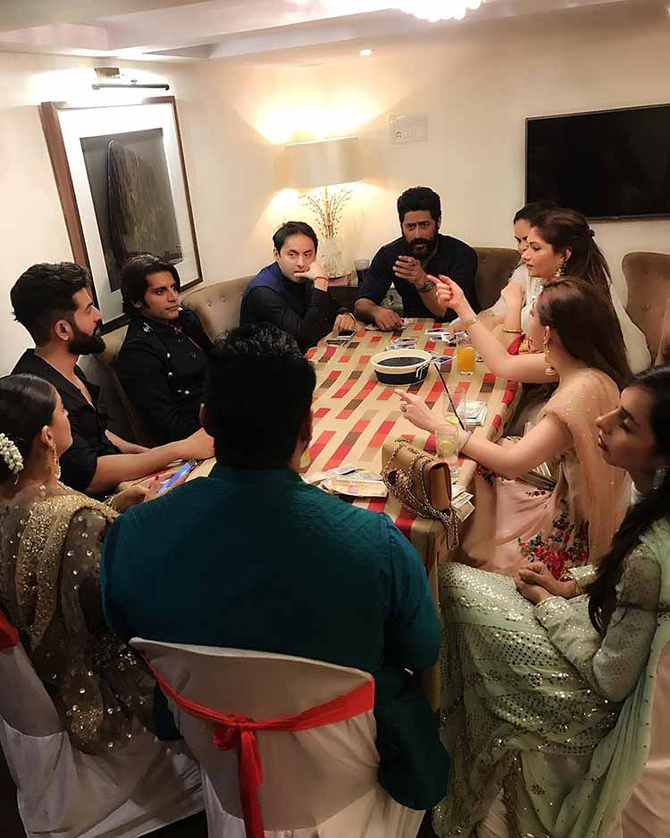 Mouni Roy and Mohit Raina spend Diwali with industry friends