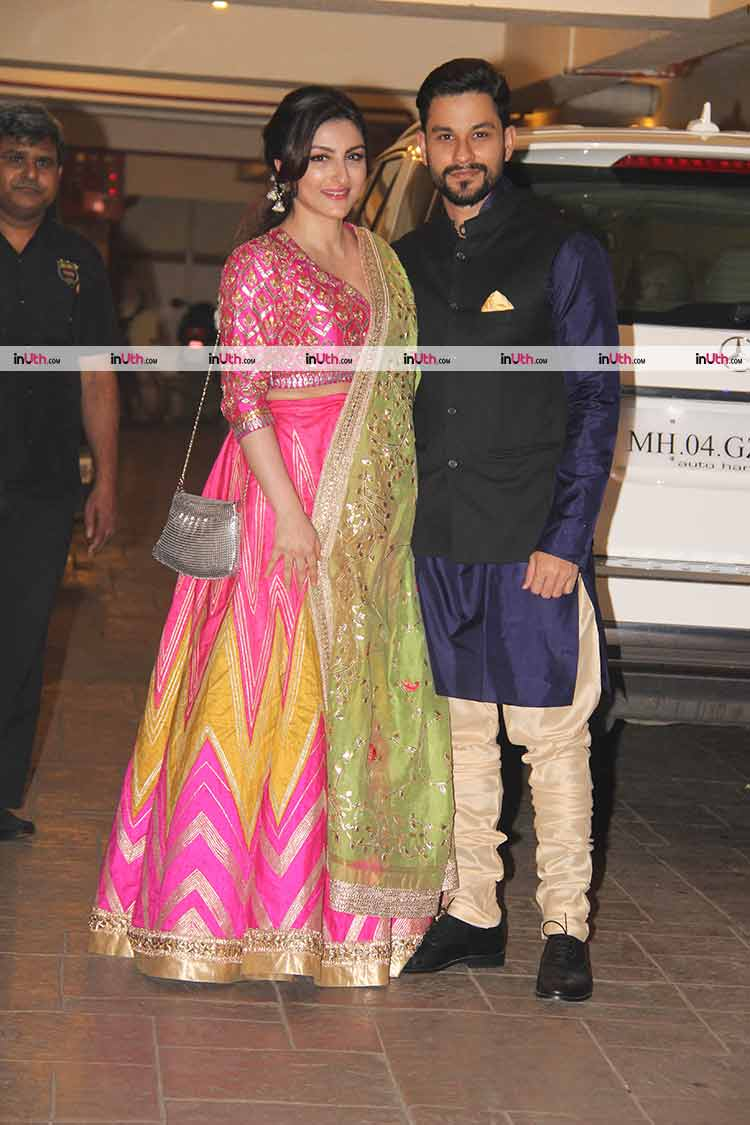 Soha Ali Khan and Kunal Khemu all decked up for Diwali party