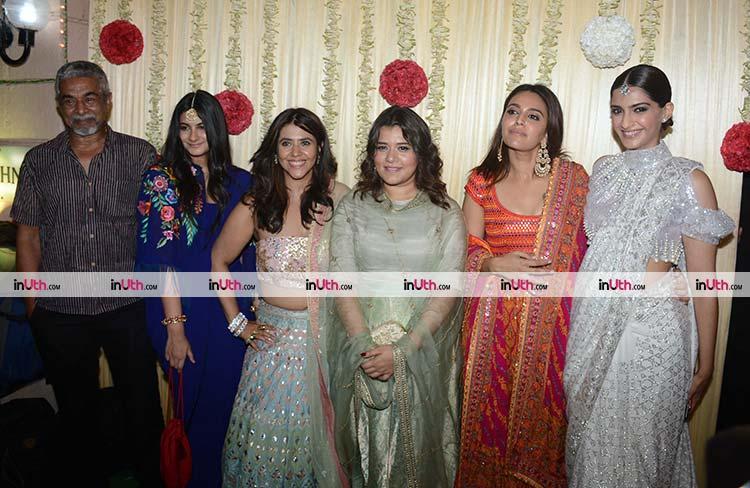 Ekta Kapoor with Veere Di Wedding team at her Diwali party