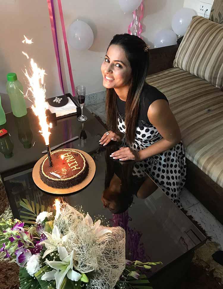Hina Khan celebrating her 30th birthday