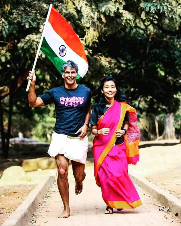 Milind Soman and Ankita Konwar's Republic Day wishes for their fans