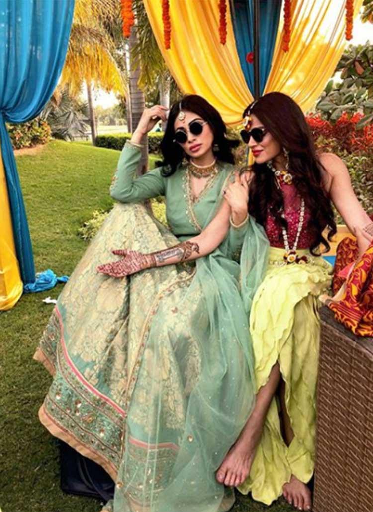 Mouni Roy with bride-to-be Aashka Goradia