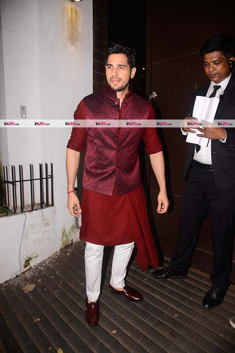 Sidharth Malhotra at Aamir Khan's Diwali party