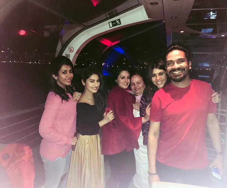Team Yeh Hain Mohabbatein cruising on the Danube river