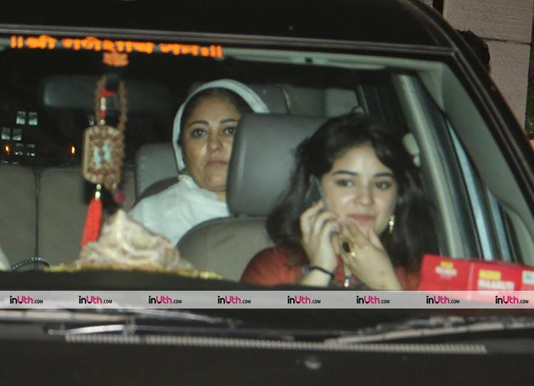 Zaira Wasim spotted at Ambani's party on Thursday night