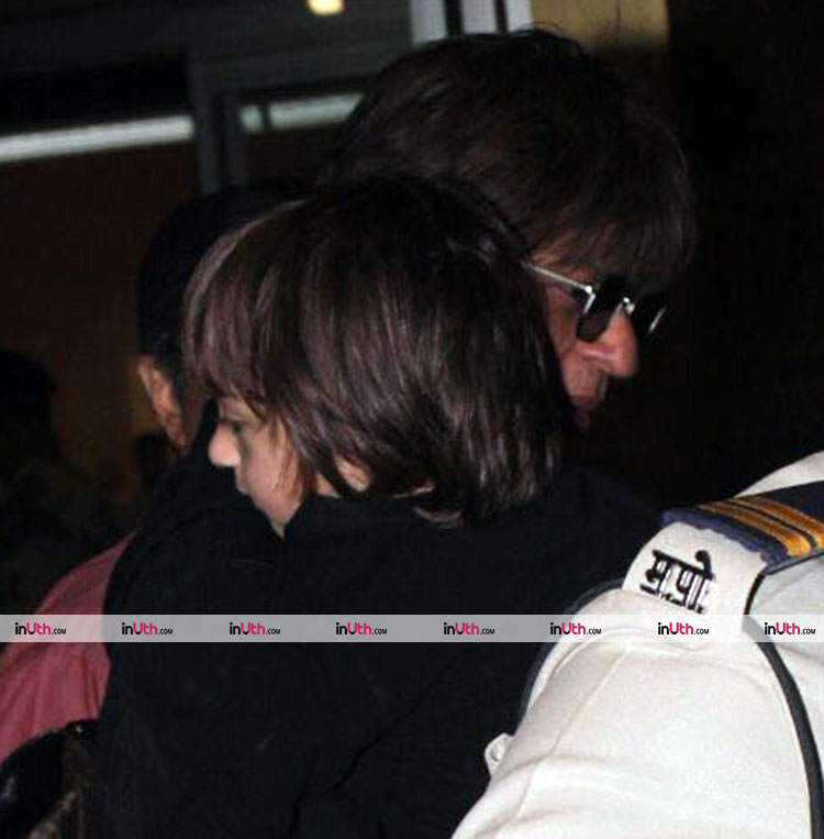 AbRam returns to India from London with Shah Rukh Khan