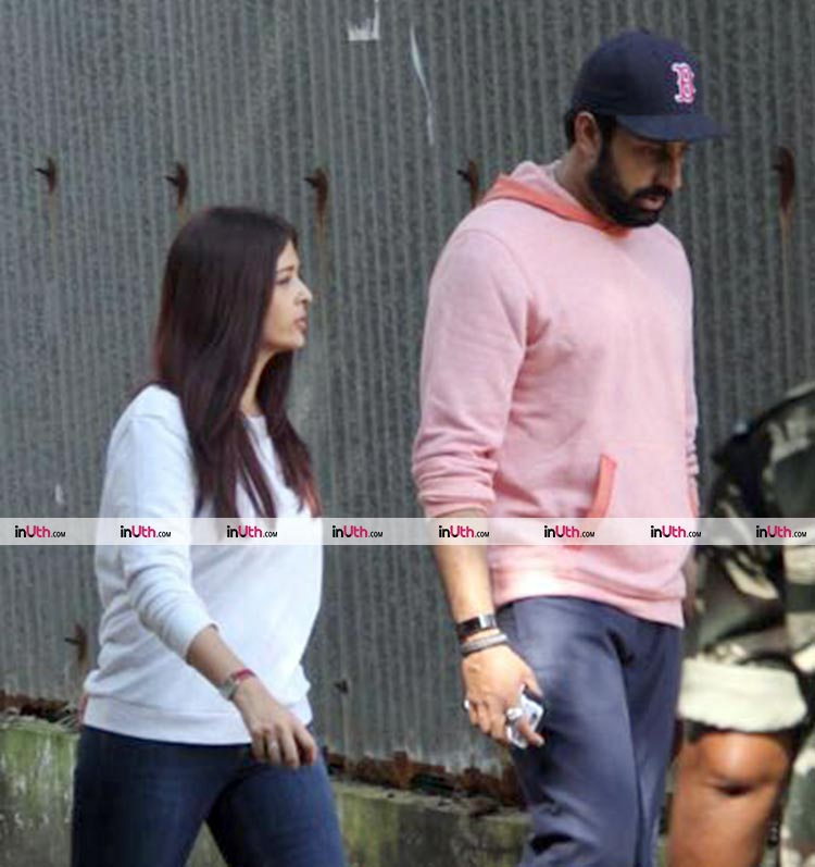 Abhishek Bachchan with Aishwarya Rai in Bandra