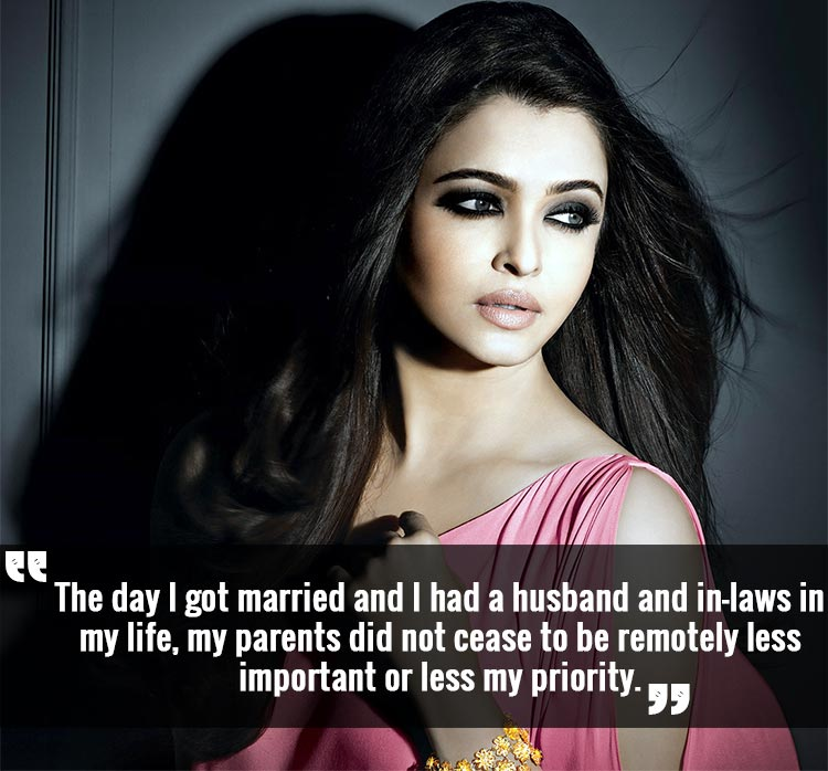 Aishwarya Rai's unswerving love for her parents