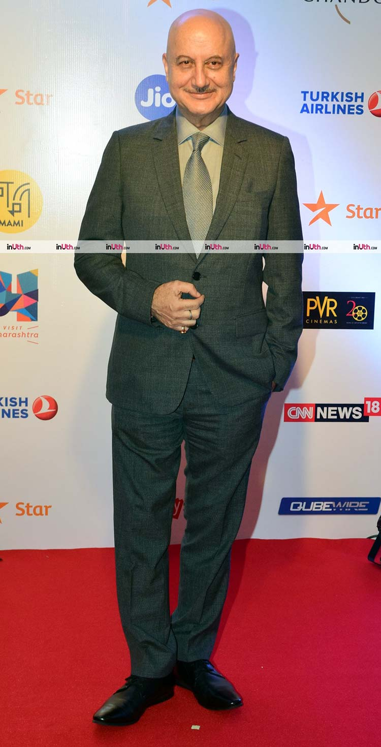 Anupam Kher on the MAMI film festival 2017 red carpet