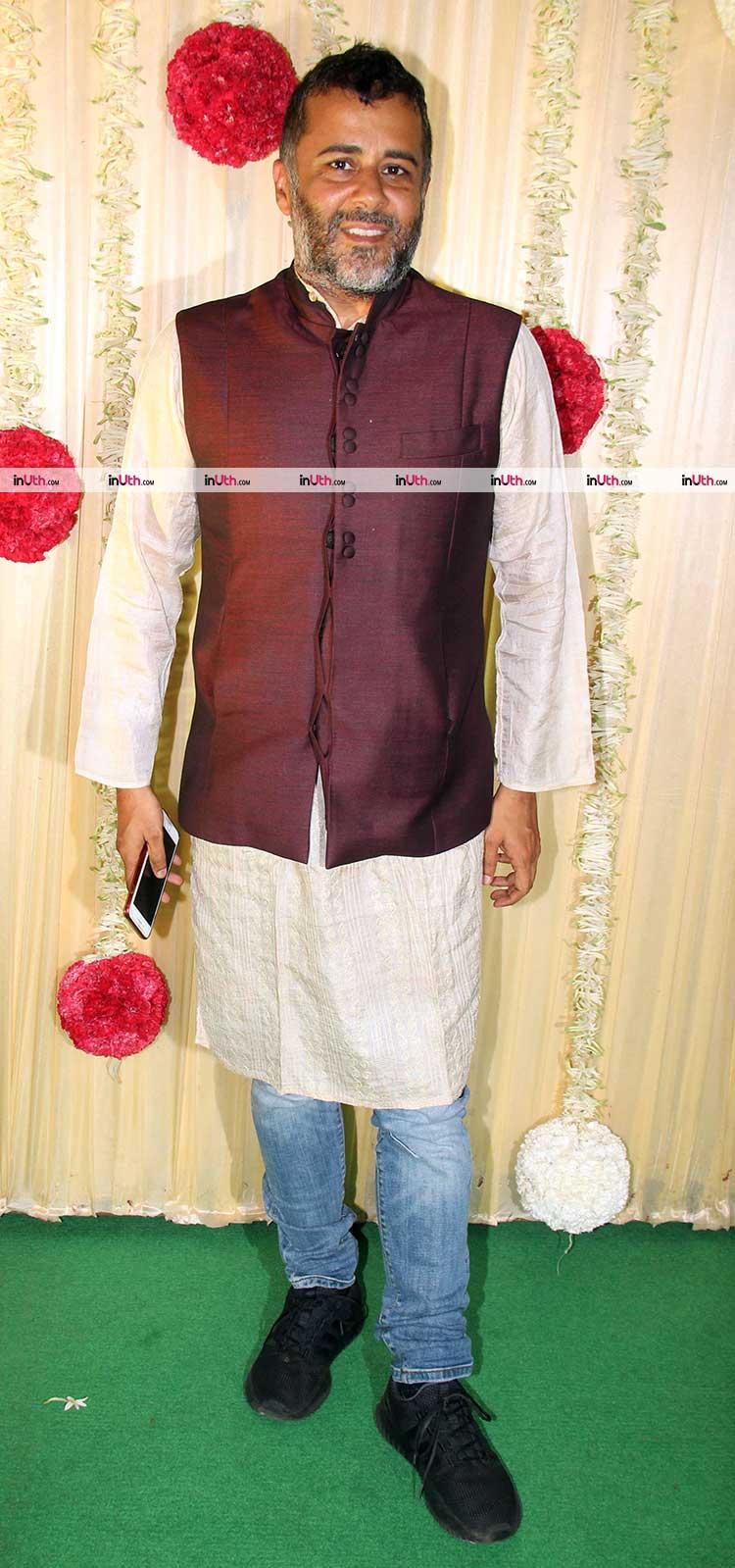 Chetan Bhagat at Ekta Kapoor's Diwali party