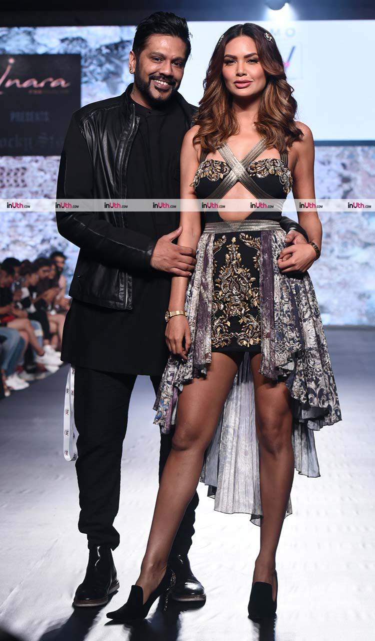 Esha Gupta with Rocky Star at India Beach Fashion Week