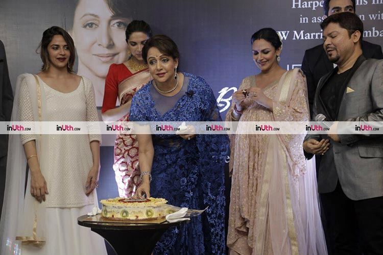 Hema Malini's daughters at the launch of Beyond the Dream Girl