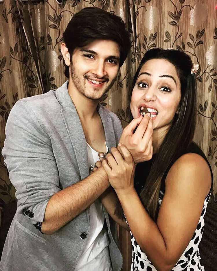Hina Khan with Rohan Mehra
