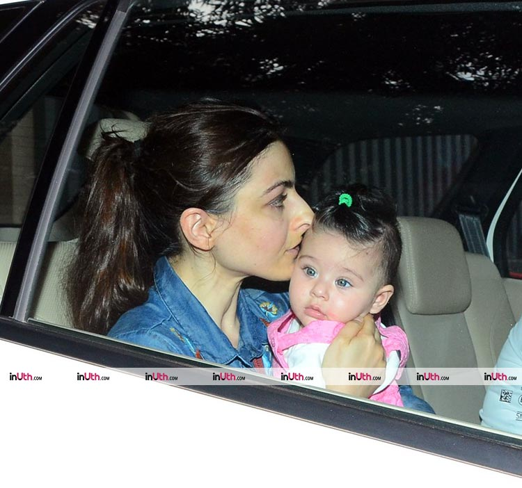 Inaaya and Soha Ali Khan are looking super cute in this pic