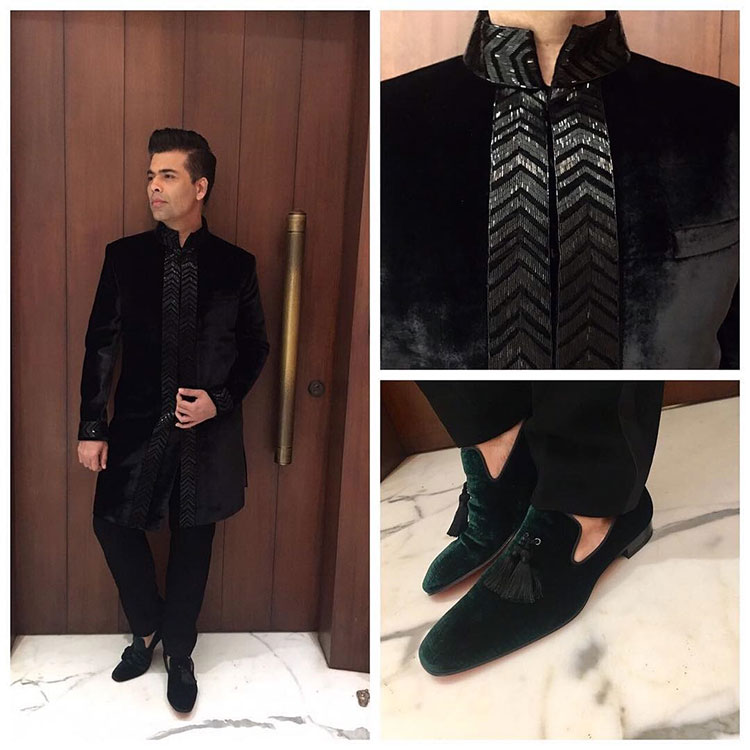 Karan Johar all dressed up for Shah Rukh Khan's Diwali party