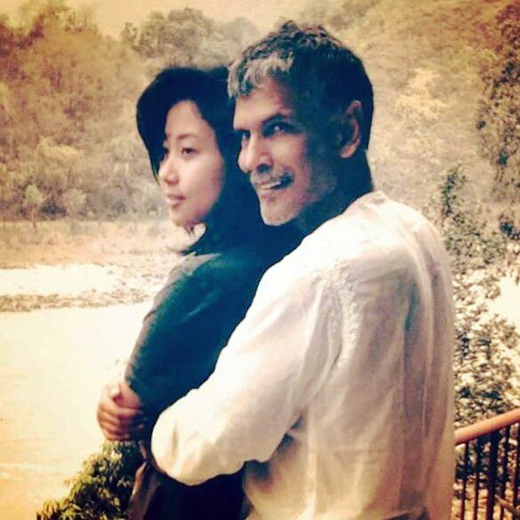 Milind Soman and Ankita Konwar are spilling out couple goals